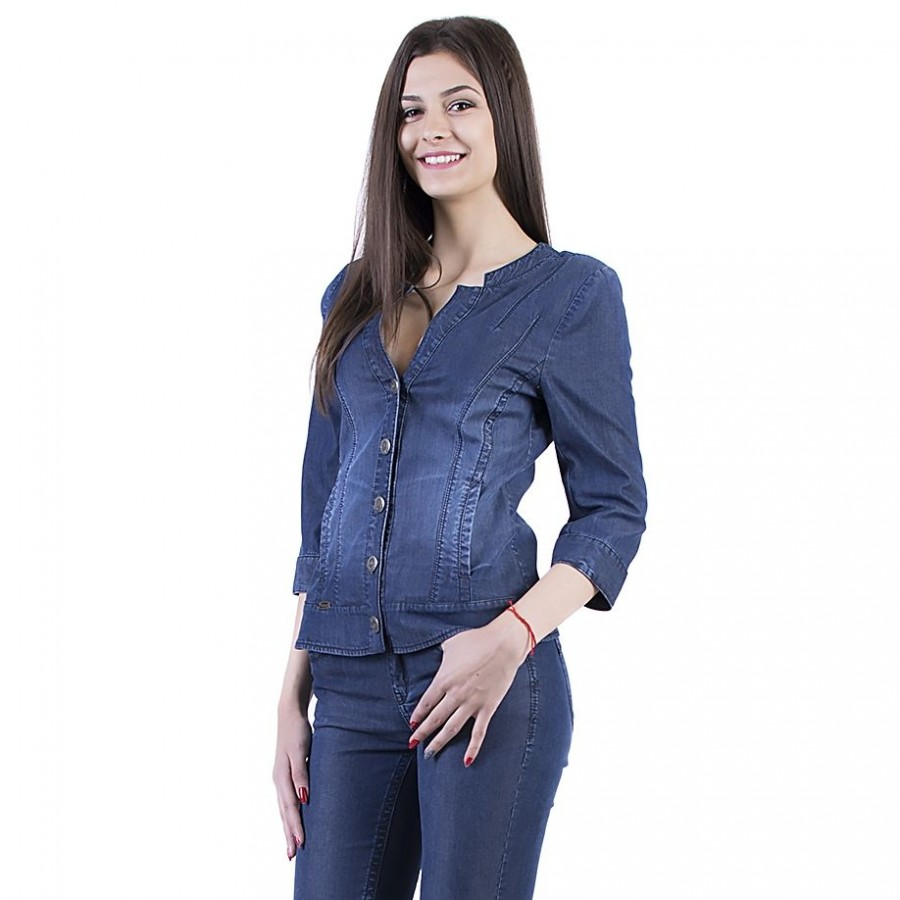 Set 17145 Denim denim jacket 3/4 and n 17161 denim jeans